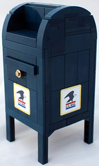 Mailbox (bruceywan) Tags: blue mailbox office post lego mail box united collection states usps photostream 18scale brucelowellcom