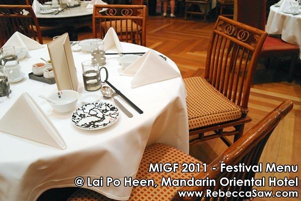 MIGF 2011 - Lai Po Heen, Mandarin Oriental-1