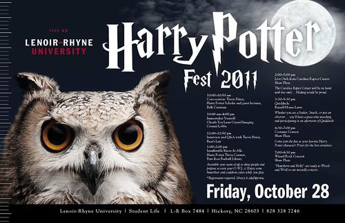 Harry Potter Fest 2011 Poster for L-R U
