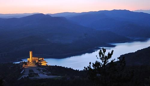 Vista nocturna desde el Alto de la Virgen