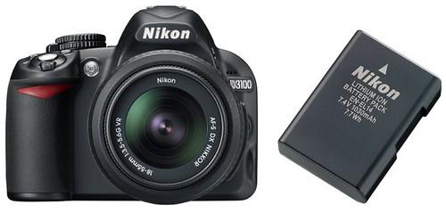 Nikon D3100 plus EN-EL14 -- Battery Life