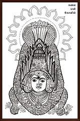 """Snake Worship- Thiruverkadu Karumariamman        Indian Ink Art (Kalai """"N"""" Kovil) Tags: ink indian amman form karumari"""
