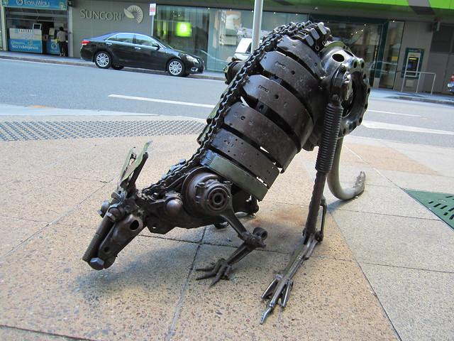 Brisbane metal kangaroo