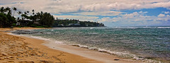 Toward Kupikipikio Point (jcc55883) Tags: ocean clouds hawaii sand nikon surf oahu pacificocean blackpoint d40 kaalawaibeach nikond40 diamondheadroad