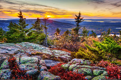 Cadillac Mountain Sunset (Greg from Maine) Tags: autumn sunset mountains fall nature landscape nationalpark twilight horizon maine newengland autumncolors acadianationalpark fallseason