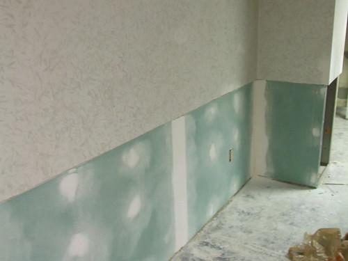 Basement progress: mudding drywall
