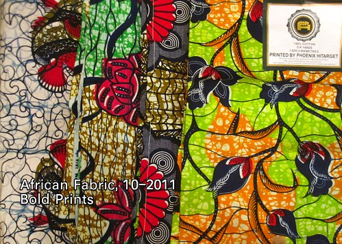 African Fabric 10-2011 Bold Prints