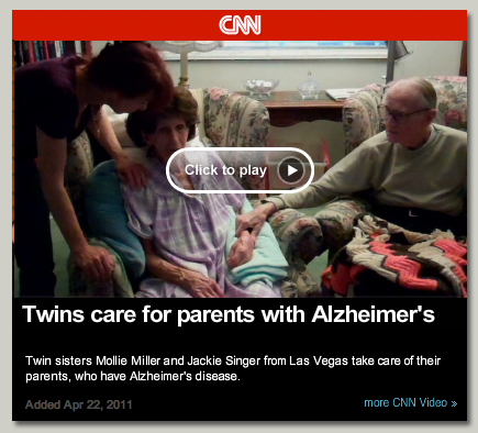CNN Video: Twins Care for Parents with Alzheimer's