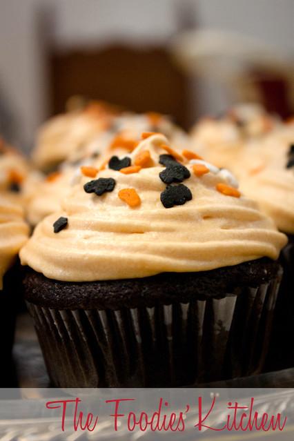 Black Halloween Chocolate Cupcakes