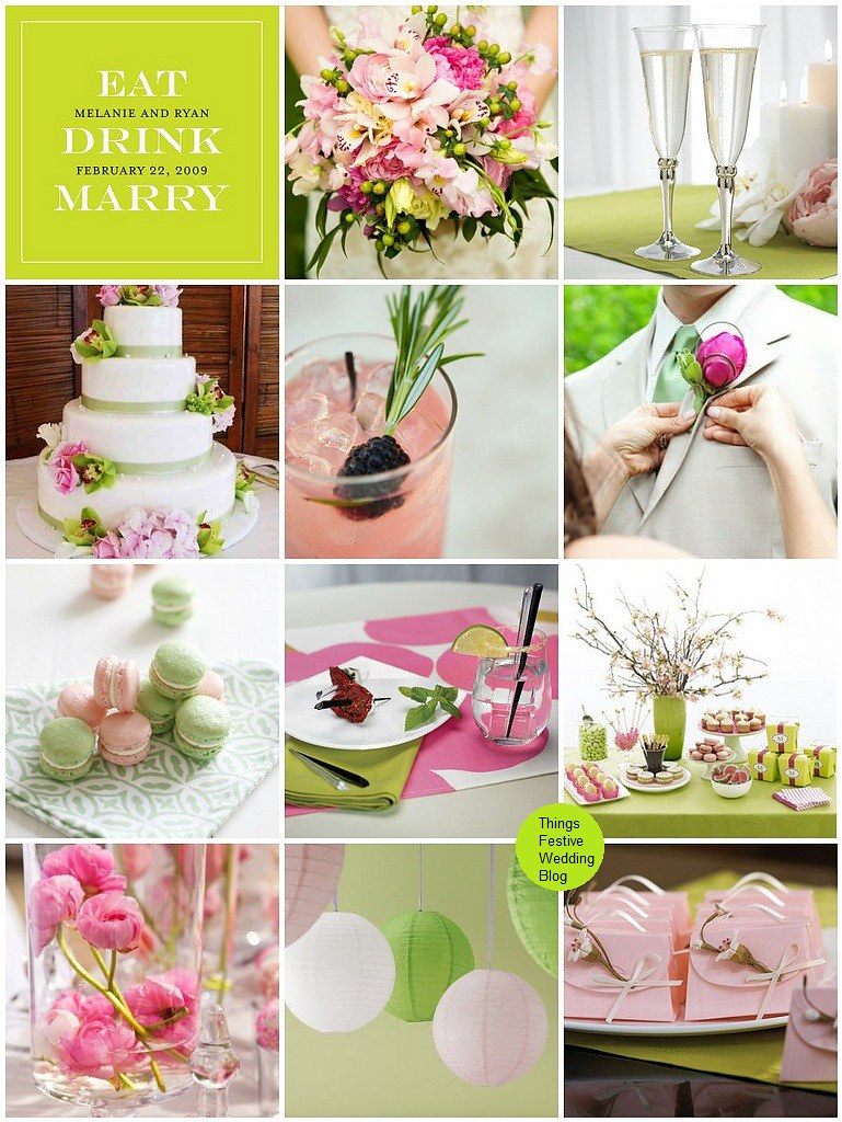 Pink and Green Wedding Color Palette | Things Festive Weddings & Events