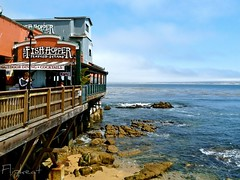 California On My Mind (flipkeat) Tags: ocean california travel usa beach water landscape outdoors restaurant landscapes monterey different photos famous scenic row american picturesque cannery canneryrow waterscape beachscape fishhopper mcabee uninque dmczs5