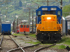 Transap, maniobras en Estacin Laja. (DeutzHumslet) Tags: chile yards station electric gm estacin patios elctrico laja emd automotor autorail transap ael37 d3004