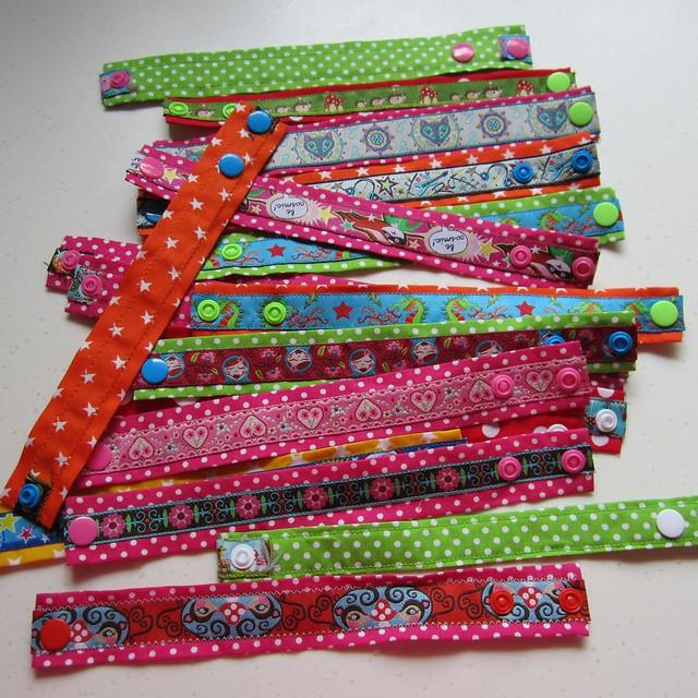 lotsa ribbon bracelets