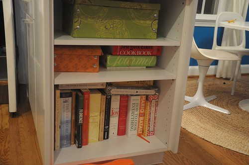 bookcase end of peninsula