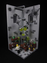 It's Alive! It's Alive! (Walter Benson) Tags: lighting castle classic halloween monster electric stone lab lego gorilla spiders scene creepy spooky doctor frankenstein laboratory horror lightning machines electrical operation igor vignette diorama zap terrifying franky drfrankenstein bley bignette collectibleminifigure collectibleminifigurefrankenstein collectibleminfigurescientist collectibleminfiguremonster walterlego