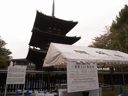 『三重塔(国宝)』の初層特別公開@興福寺