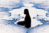 #850C4883- Meditation (Zoemies...) Tags: sea beach water silhouette candid wave meditation balikpapan melawai zoemies