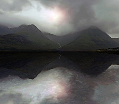LOCH SLAPIN (kenny barker) Tags: uk mist mountains skye water weather clouds island scotland loch cuillins lochslapin panasonicg1 fleursetpaysages