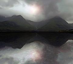 LOCH SLAPIN (kenny barker) Tags: uk mist mountains skye water weather clouds island scotland loch cuillins lochslapin panasonicg1 fleursetpaysages