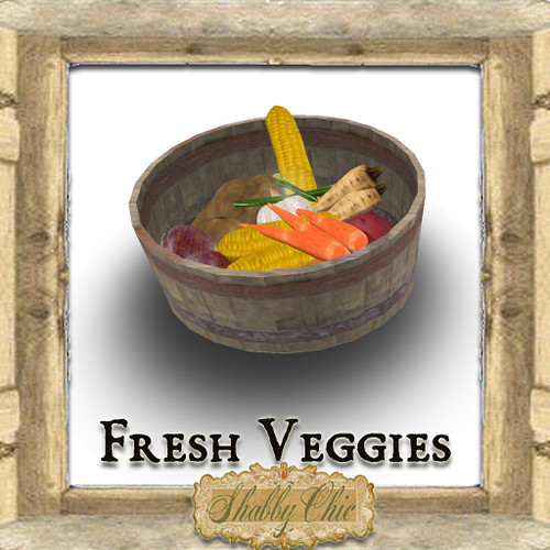 Shabby Chic Fresh Veggies by Shabby Chics