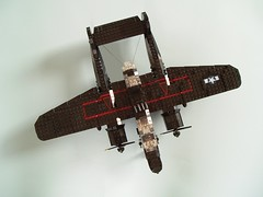 P-61B Black Widow (3) (Mad physicist) Tags: lego military wwii blackwidow northrop p61 nightfighter p61b