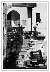 The Steps of Dolcedo. (...Keiths) Tags: blackandwhite italy liguria dolcedo canon70200mmf28lis flickrbw keithbott gallery62