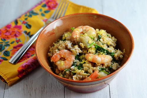 slow cooker, risotto, shrimp, artichoke, barley