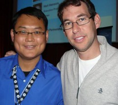 "Doug Ellin (""Entourage"") & me at 2008 Banff World TV Festival"