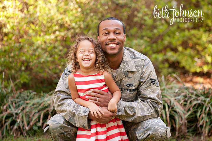daddy and daughter air force uniform maclay gardens tallahassee