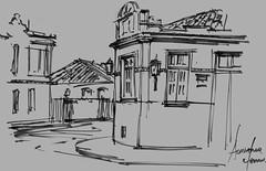 So Joo del Rei (AdrianoMello) Tags: sketch minas gerais tiradentes draw markers adriano desenho sketchphoto cidadehistrica igrejadorosrio hidrocor largodo