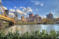Sunny Day in Pittsburgh (Z!@) Tags: city bridge building architecture pittsburgh pirates steelers pittsburghskyline highmark upmc andywarholbridge rachelcarsonbridge klgates canoneos60d bnymellon eqt ziaurrahman sigma816mmlens sigma50th citywithhighestbridges