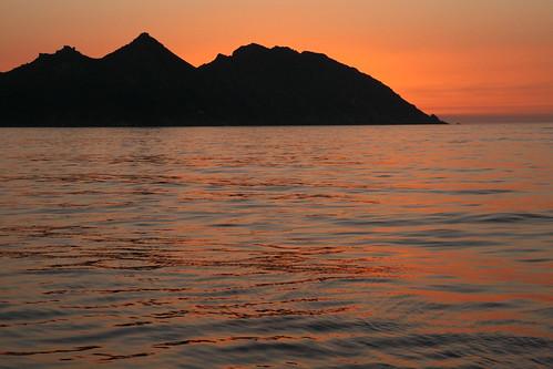 Atardecer en las Islas Cíes