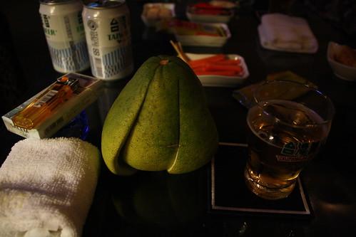 [台湾2.5] BBQのときは柚子も食べる習慣らしい