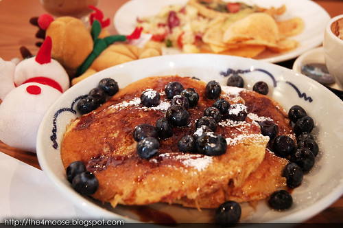 Group Therapy - Stacked Pancakes with Maple Syrup and Berries