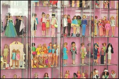 need to dust (girl enchanted) Tags: ikea vintage toy toys mine dolls things cleaning shelf collections stuff hoard barbies collect collectibles