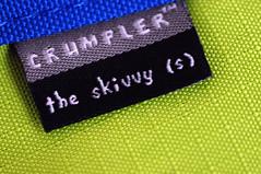 The Skivvy (Don Abrenica) Tags: blue light logo availablelight crumpler ambient product laptopbag skivvy nikkor60mm nikond300s