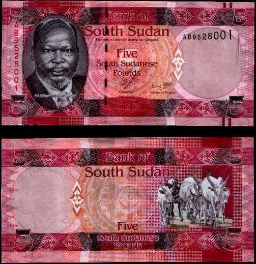 5 Juhosudánskych Libier, Južný Sudán 2011