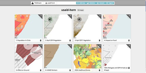 Maps of the famine in the Horn of Africa released openly by USAID