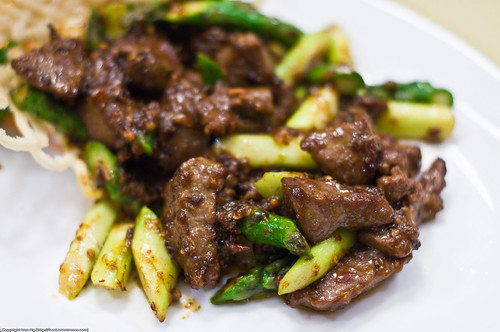 Surprisingly good stir-fried beef with Asparagoose :)