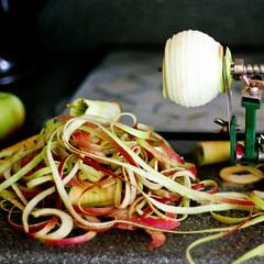 Peeling apples..
