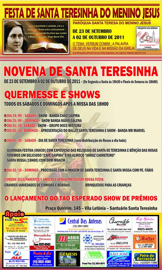 Banner Festa Santa Teresinha 2011