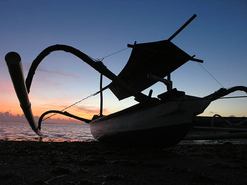 Fishing boat, Indonesia, photo by Jamie Oliver, 2008