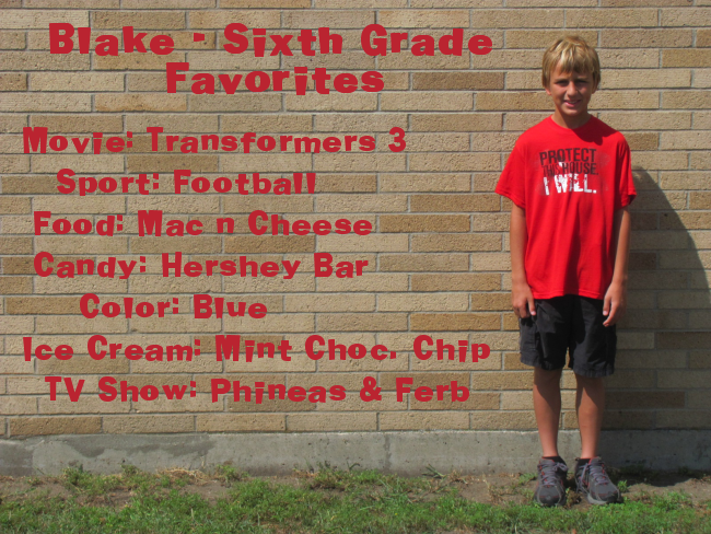 Blake  - 6th Grade
