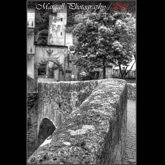 The bridge of Monterosso Grana - HDR - Auto Weltblick MC 35mm f2,8 M42 (Margall photography) Tags: bw italy mountain castle photography italia piemonte marco monterosso cuneo castello bianco nero grana galletto margall