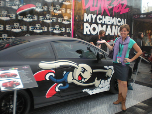 Diane and Blue Lollipop Road  at Honda Civic Tour