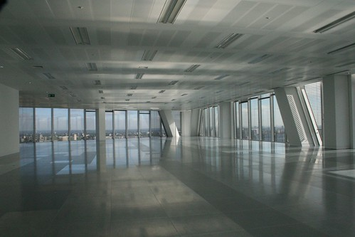 Empty 18th floor of the Broadgate Tower
