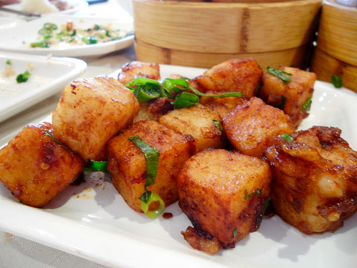 Dragon Palace Radish Cake with Bacon in XO Sauce