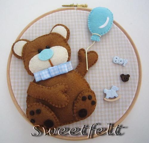 ♥♥♥ Ursinho... para meninos! by sweetfelt \ ideias em feltro