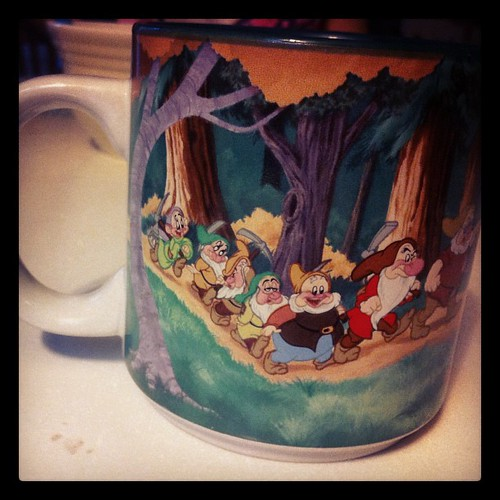 Now that I have all these little girls, I am kicking myself that I didn't save more of my Disney coffee mugs.