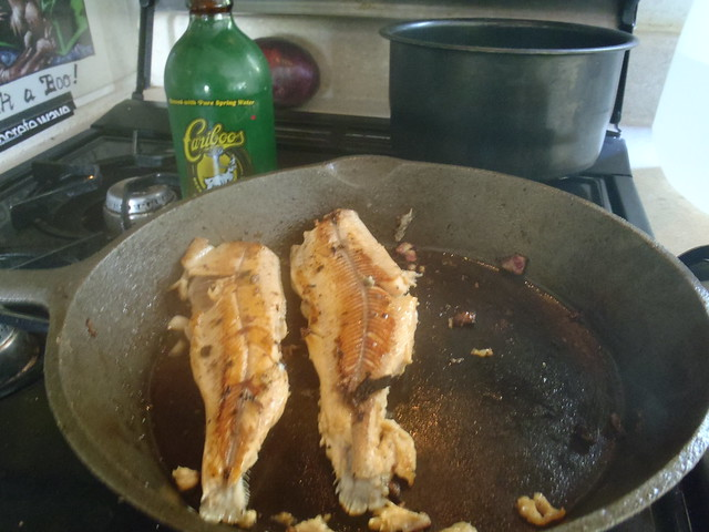 PAN FRI CARIBOO TROUT. BREAKFAST